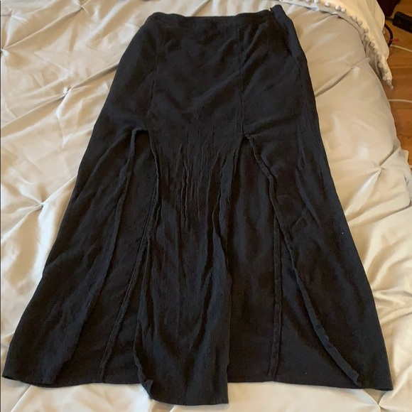 American Eagle Outfitters black maxi skirt